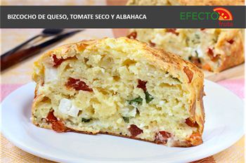 Imagen de la categoría Bizcocho de queso, tomate seco y albahaca