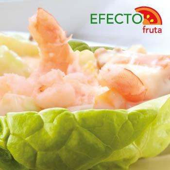 Imagen de la categoría Cogollos rellenos de melón y marisco.
