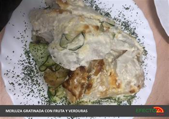 Imagen de la categoría Merluza gratinada, con fruta y verduras